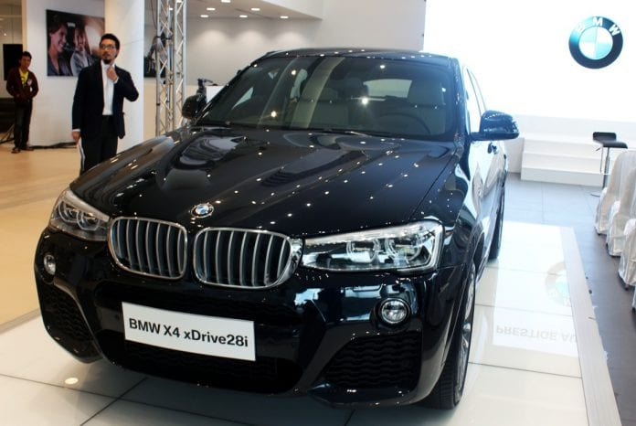 BMW showroom X4 myanmar