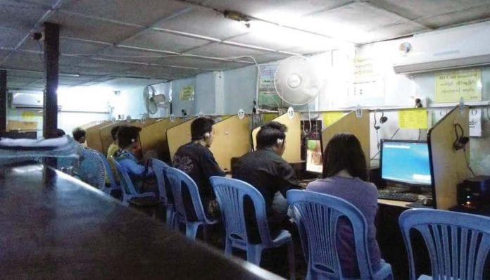 Myanmar ISP internet cyber cafe IT tech