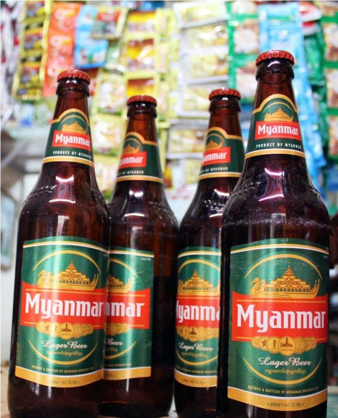 Myanmar beer bottles Brewery