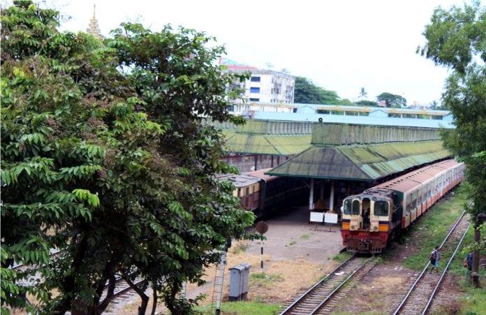 circle train yangon railway myanmar