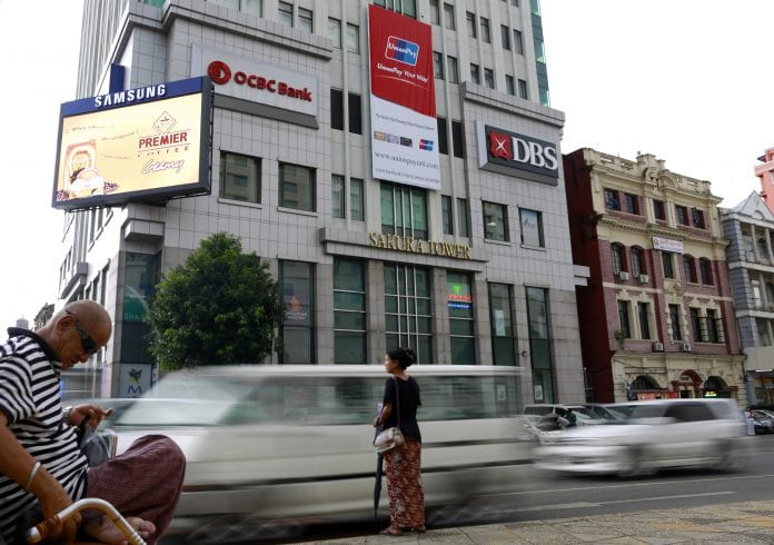 ocbc dbs sule traffic yangon economy bank investment foreign