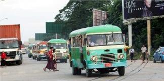 yangon bus public transport road traffic economy - Copy