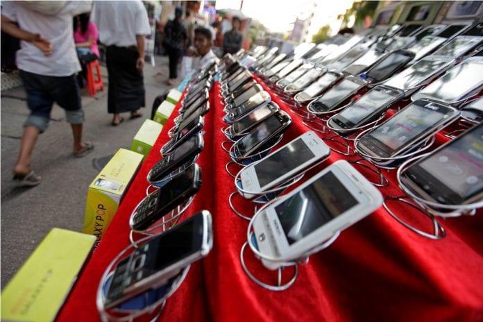 yangon mobile phone telecom handset