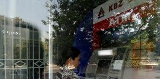 KBZ atm money machine investment card kyat economy