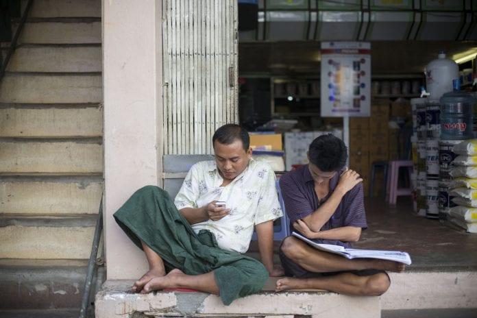 myanmar phone mobile telecom people bloom