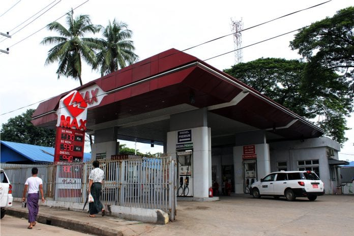 petrol station auto car yangon gas diesel