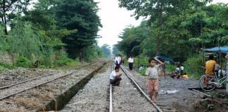 train poverty economy myanmar yangon circle line gdp growth investment infrastructure