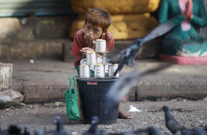 Myanmar economy investment poverty kid child labour employer