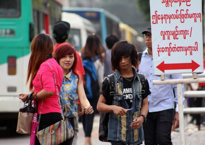 Myanmar population traffic people economy