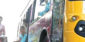 bus traffic yangon