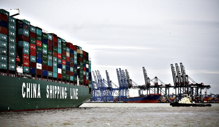 china shipping line container