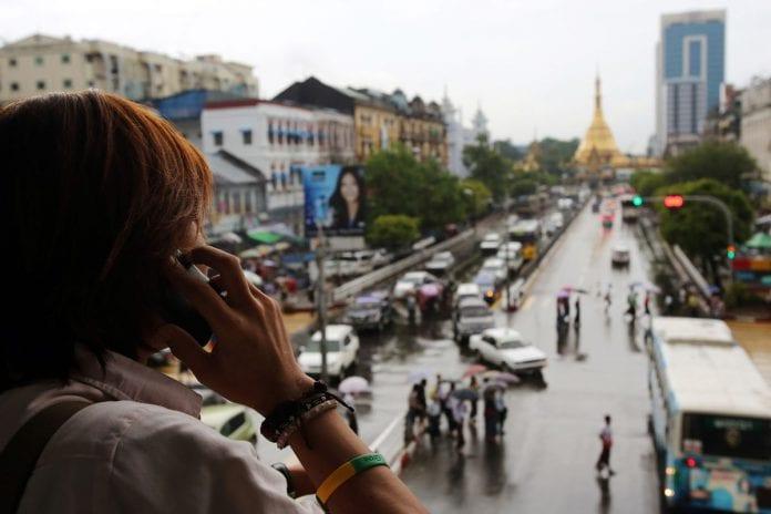 myanmar sule phone economy mobile telecom bloom