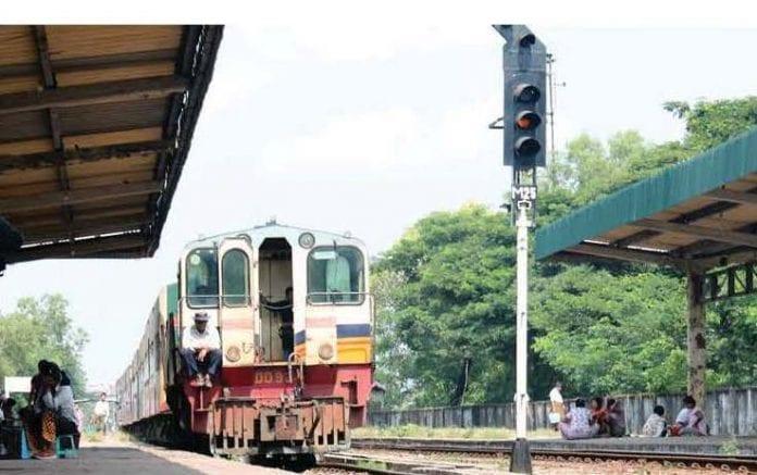 myanmar yangon train rail