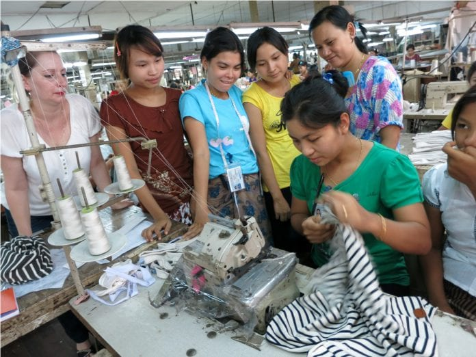Myanamr garment worker smart switch EU