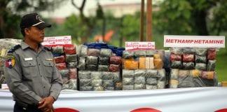Myanmar Drug destruction poppy heroin marijuana police (1)