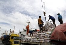 Myanmar port economy container export trade rice (2)