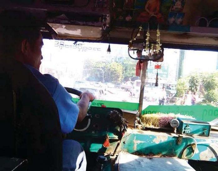 bus driver yangon auto