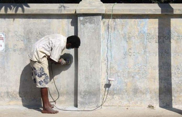 labour construction myanmar