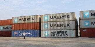 maersk container export import trade