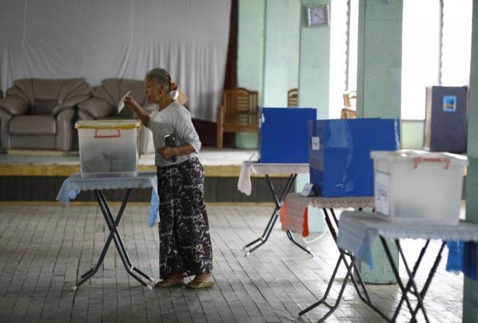 myanmar elections vote