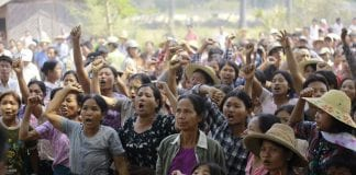 myanmar letpadaung sarlingyi monywa copper mine mining protest