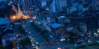 myanmar yangon sule skyline property economy traffic investment growth bloom