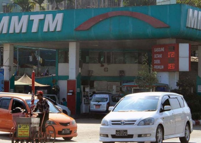 petrol station yangon oil