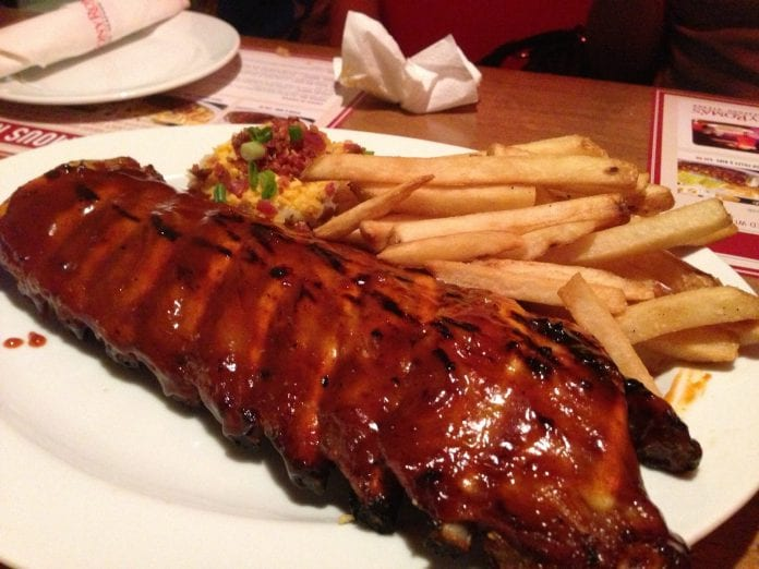 tony roma's ribs steak