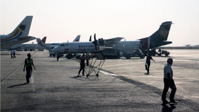 yangon international airport aviation plane yangon airways