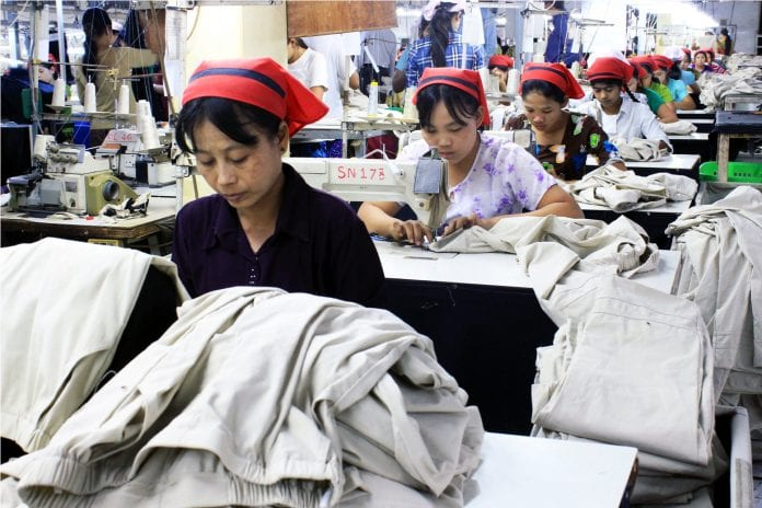 Myanamr garment factory industrial zone yangon EU labour electricity power industry (44)