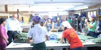 Myanamr garment factory industrial zone yangon EU labour electricity power industry (59)