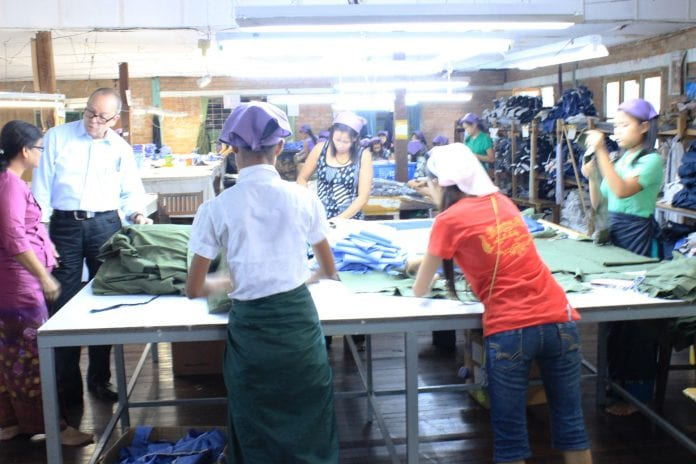 Myanamr garment factory industrial zone yangon EU labour electricity power industry (59)