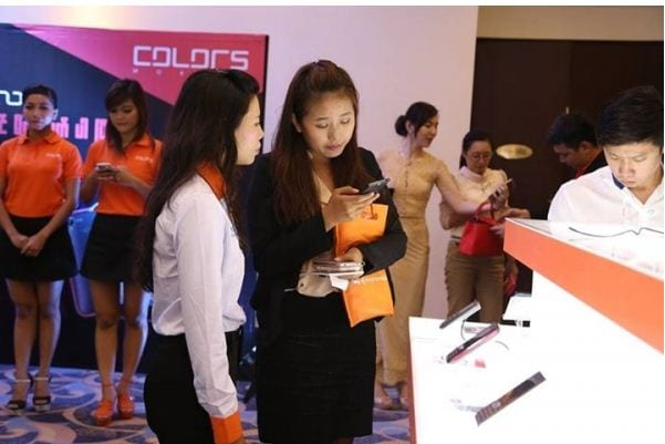 colors mobile myanmar mandalay launch