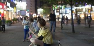 mobile phone user taipei