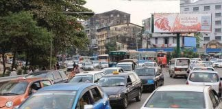car yangon traffic automobile Myanmar