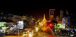 yangon traffic economy myanmar bloomerg