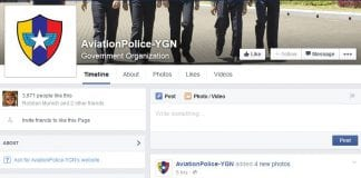 Aviation police yangon facebook page
