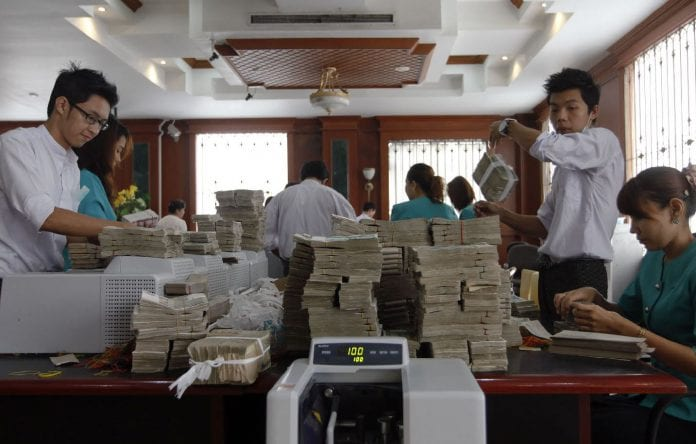 Kyat dollar central bank dollar myanmar economy
