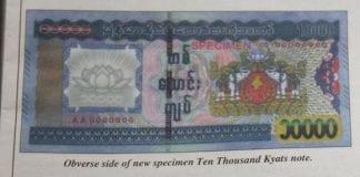 Myanmar 10000 kyat