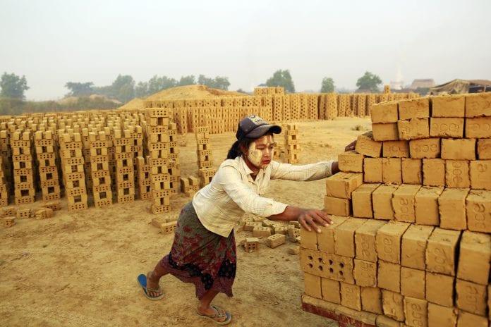 Myanmar labour labor brick kiln