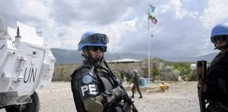 UN united nations peacekeeping soldiers