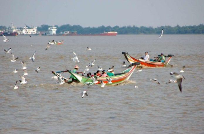 Yangon dala river bridge