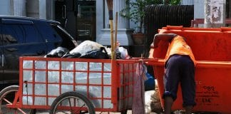 Yangon rubbish garbage Myanmar