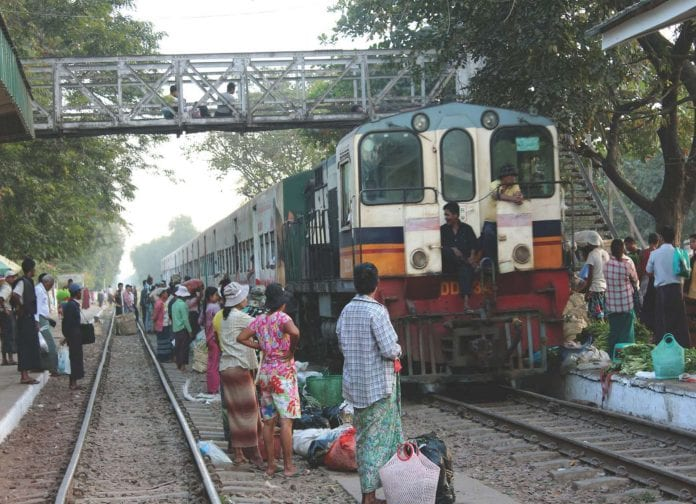 Yangon train JICA Myanmar Business today