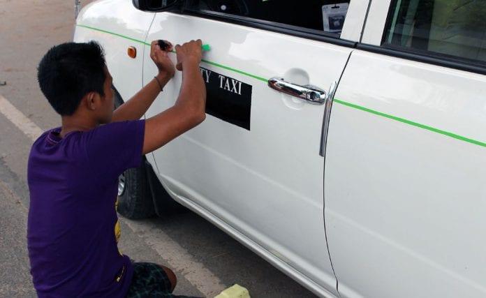 car city taxi Yangon Myanmar
