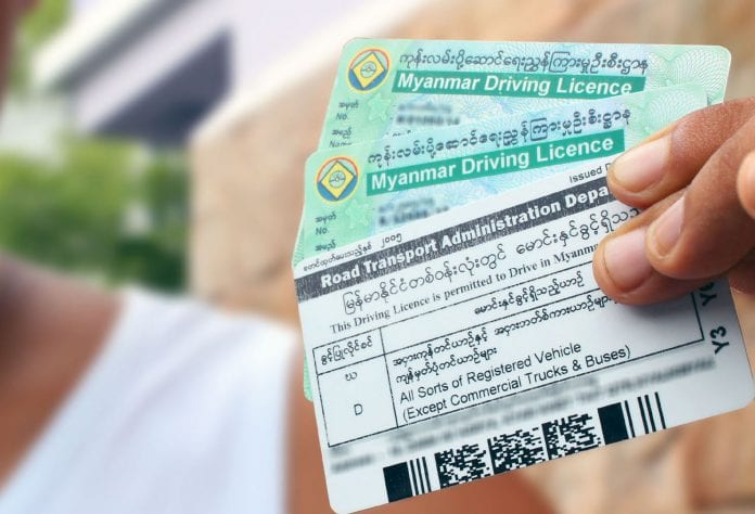 car licence driving Myanamr