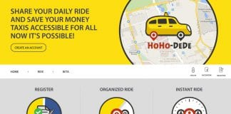 hoho dede taxi share ride app