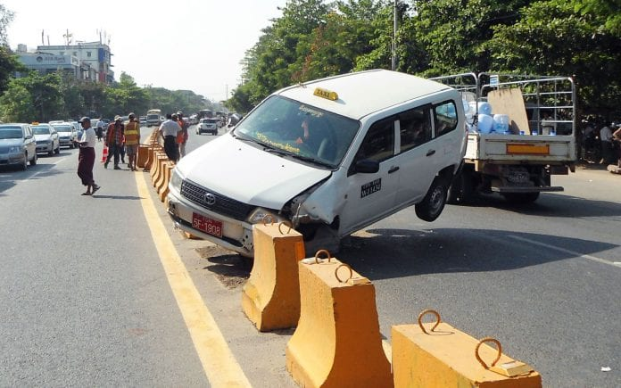 Myanmar car auto vehicle traffic seat belt road safety