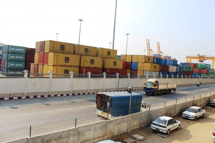Myanmar container export trade import