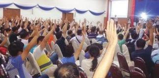 Myanmar garment workers labourer minimum wage protest